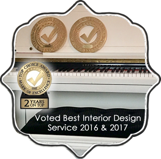Voted best interior designer 2016 and 2017