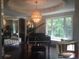 Piano room before and after