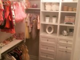 Custom closets with built in cabinetry