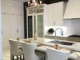 island seating in custom kitchen