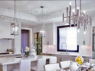 Modern Kitchen with eating area