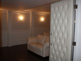 Padded home theatre doorway- custom interior desing