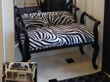 Zebra bench, custom design by Ania Maternicki of AVA Interior Design.  Solid Maple, fully made in Canada.
